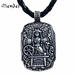 MENDEL Vintage Norse Viking Rune Pagan Amulet Wiccan Witches Pendant Necklace