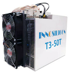 New BTC Miner Innosilicon T3 50T like T2T Antminer S9 S17 S15 T17 T3+ T2