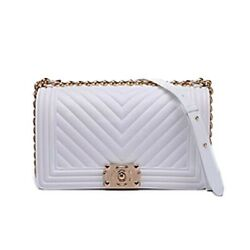 NEW STYLISH TRENDY RAINBOW COLOR TENDER JELLY INSPIRE SHOULDER BAG