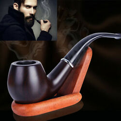 Collectible Durable Wooden Wood Smoking Pipe Tobacco Cigarettes Cigar Pipes Wood