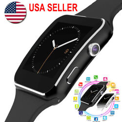 X6 Curved Screen Bluetooth Smart Watch Phone Mate SamsungiPhoneAndroidiOS US