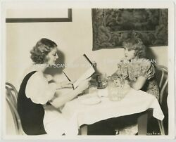 Loretta Young Joan Blondell Dining Out Vintage Publicity Photo