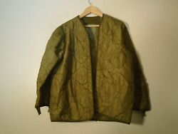 USGI US Military M 65 Field Jacket M65 Cold Weather Coat Liner Size Small $17.95