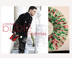 Michael Buble ‎- Christmas Exclusive Limited Red & Green Splatter Vinyl LP VG+NM