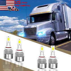 8000K LED Conversion Bulb Kit for Freightliner Century Headlights Lamp Low High $30.95