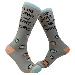 I Like Coffee And Maybe 3 People Socks Funny Sarcastic Novelty Birthday Gift $9.99