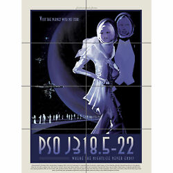 PSO J318.5-22 Nightlife Never Ends NASA Space Tours Travel XL Giant Panel Poster