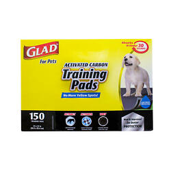 Glad for Pets Activated Carbon Training Pads For Dogs and Puppies 150 ct. $29.85