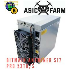 Bitmain Antminer S17 Pro 53THs Better than Innosilicon S17 T3