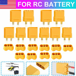 10pcs Amass XT90 Male Female Connector 4.5mm Bullet Plug Adapter for RC Battery $10.48