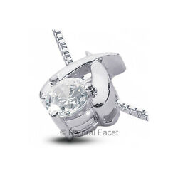 2.03ct D SI1 Round Natural Diamond White Gold Classic Solitaire Pendant
