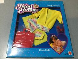 Mattel The Heart Family 1985 Mom and Baby FASHIONS BEACH OUTFIT NEW FREE SH