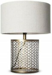 My Swanky Home Industrial Modern Bronzed Gold Metal Table Lamp amp; Shade New $24.99