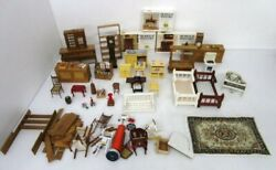 Assorted Lot Miniature Doll House Furniture