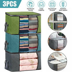 Foldable Storage Bag Clothes Blanket Quilt Closet Sweater Organizer Box Pouch US $8.97