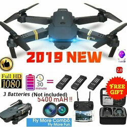 E58 2.4GHz RC Drone FPV Wifi 4K HD Camera 6-Axis Foldable Quadcopter + Battery $51.97