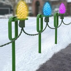 25 Adams quot;Easy Pushquot; 10quot; Heavy Duty Light Stakes Commercial Christmas Hardware