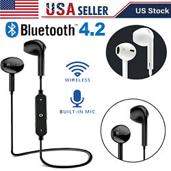Bluetooth Headphone Stereo Earphone Headset Wireless In Ear For iPhone 11 XS XR $9.99