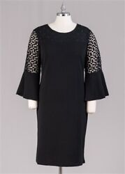 Ladies Black Christmas Holiday Dresses Dress size 1X and 2X $29.40