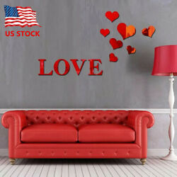 Romantic Love 3D Mirror Wall Stickers Art Decal Removable Home Decoration US $7.49