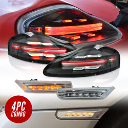 COMBO 718 Full LED Bar Tail + Clear Side Marker Lights For 1997-2004 Boxster 986
