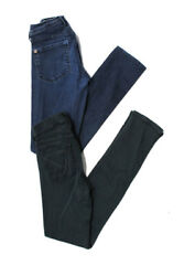 Citizens of Humanity Genetic Denim Womens Skinny Jeans Black Blue Size 26 Lot 2