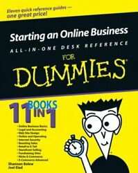 Starting an Online Business All in One Desk Reference for Dummies Shannon Belew $4.49