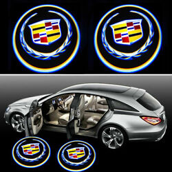 2PCS For Cadillac Universal Wireless LED Door Courtesy Laser Shadow Light $15.49