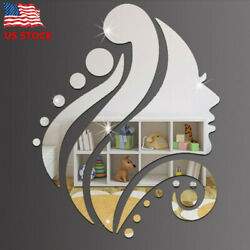 Creative 3D Wall Sticker Removable Mirror Beauty Pattern Wall Decals Home Decor $7.49