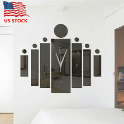 Creative Clock 3D Mirror Wall Sticker Wall Art Decals Removable Home Decor $7.99