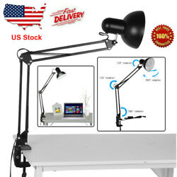 Swing Arm Desk lamp Architect Drafting Table Clamp On LED Light Adjustable Bulb $21.38