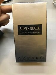 AZZARO SILVER BLACK for Men Cologne 3.4 oz 100 ml Spray New In Box