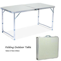 Folding Table Indoor Outdoor BBQ Portable Plastic Picnic Party Camp Tables US $30.85