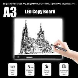 A3 LED Drawing Painting Board Copy Tracing Tattoo Light Box Pad Table Ultra-thin