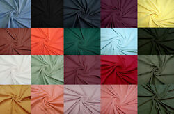 4 Way Stretch Double Sided Brushed Fabric Jersey Knit Fabric $6.99