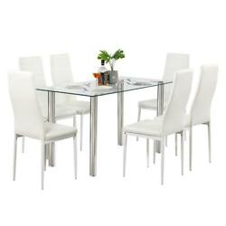 Durable Different Style 5 Piece Dining Table Settables Glass Metal Furniture NEW $99.79