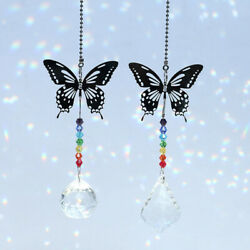 Rainbow Butterfly Ball Prism Pendant Baroque Lighting Beads Home Room Decor $6.72