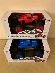 RC MINI MONSTER ROCKSLIDE TOY TRUCK BY SHARPER IMAGE RED BLUE BRAND NEW $15.00