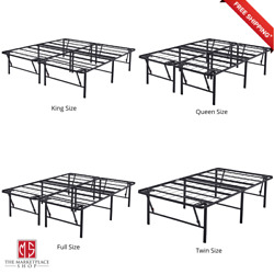 Metal Bed Frame - Foldable Steel Rail Platform - 18 Inch - King Queen Full Twin  $62.95