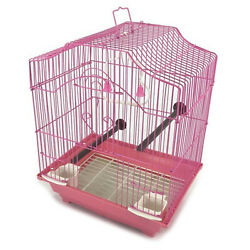 14quot; Small Parakeet Wire Bird Cage for Finches Canaries Hanging Travel Bird House $22.99