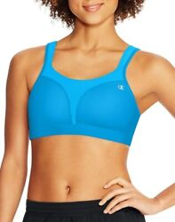 003X10 Champion 1602 High Support Sports Bra 34D Teal NWD $33.17