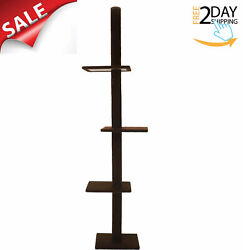 Cat Tree 3 Tier Floor to Ceiling Carpet Tower House Condo Furniture Post Scratch $73.34