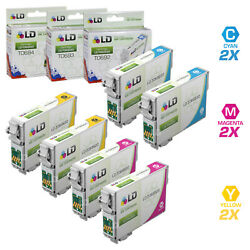 LD Reman Ink Cartridge for Epson T069 69 CMY Set of 6: T069220 T069320 T069420 $22.99