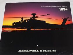McDonnell Douglas Helicopter Systems 1994 CALENDAR COLOR PHOTO 11quot; X 19.5quot; $19.95