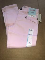 New Girls Size 6 Pink Jean Jeggings Cat and Jack Adjustable Waist $10.99
