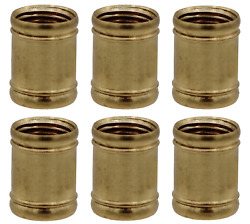 Creative Hobbies Brass Coupling 1 2 Inch Long 1 8 IP for Lamps Pack of 6 $7.95