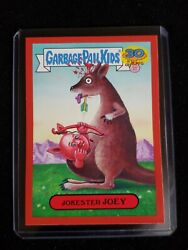 Garbage Pail Kids 2015 30th ANNIVERSARY RARE RED BORDER 4a JOKESTER JOEY $5.00