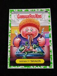 2020 Garbage Pail Kids Booger GREEN BORDER 70b DISSECT SHAUN LATE TO SCHOOL $3.00