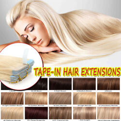 CLEARANCE Seamless Tape in 100% Remy Human Hair Extensions Full Head Skin Weft $11.81
