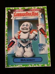 2020 Garbage Pail Kids Booger GREEN BORDER 83a IRA ROBOT LATE TO SCHOOL  $3.00